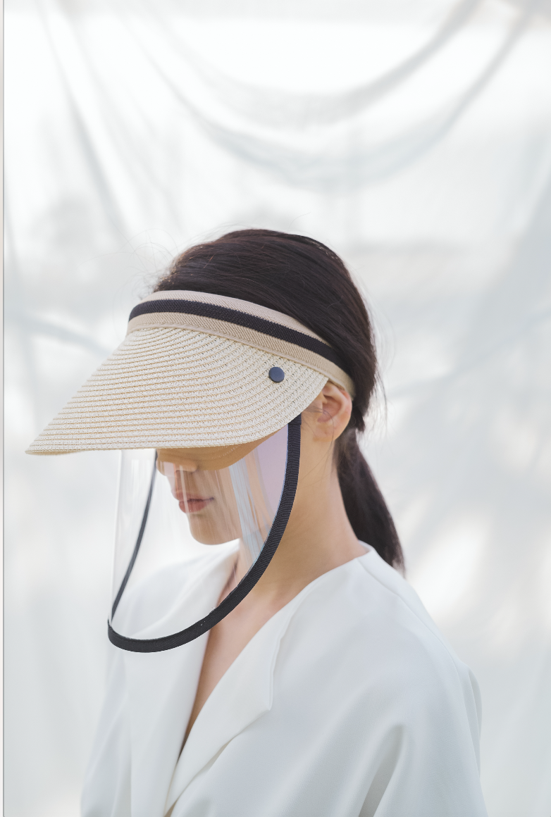 Rona Visor/ Hat in Beige (PRE ORDER FOR 14 WORKING DAYS)