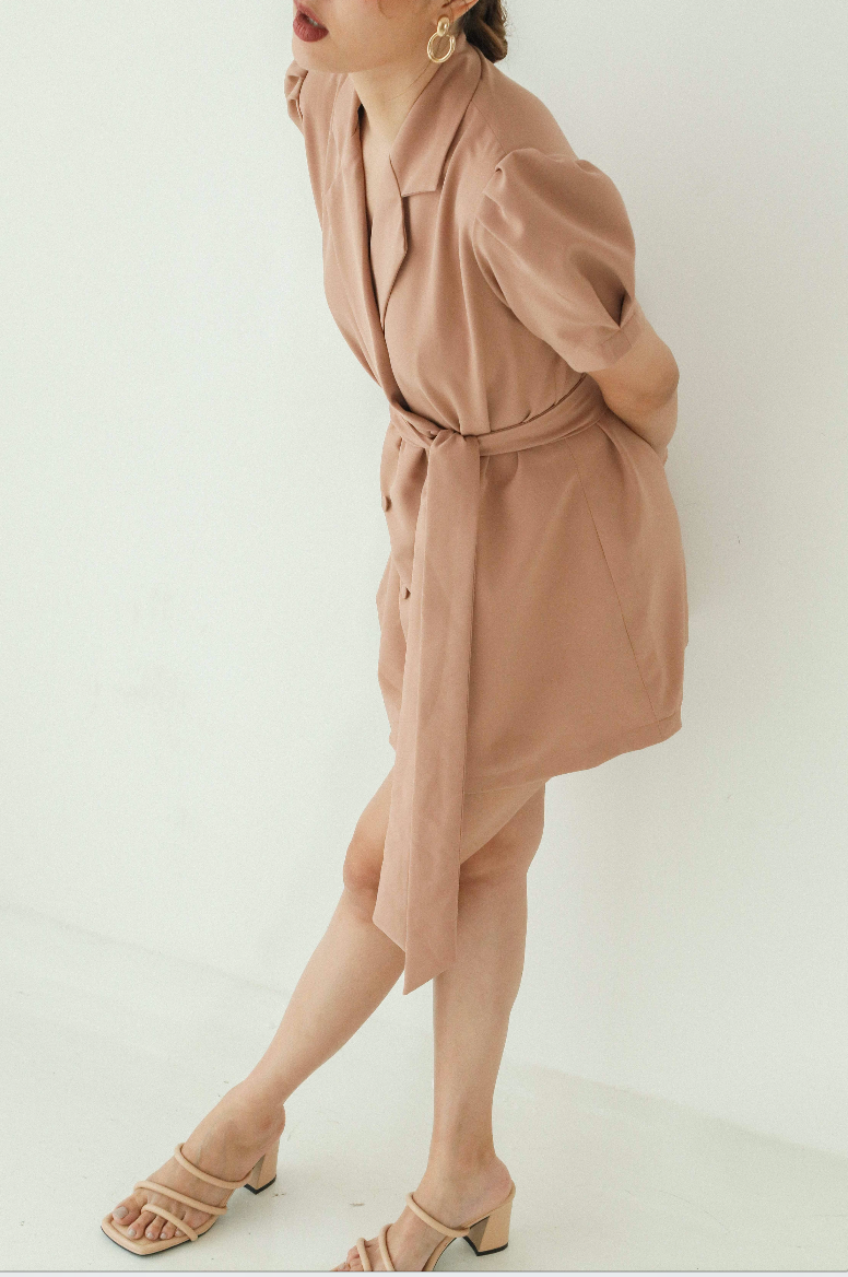 MINI DRESS IN BROWN (PRE-ORDER FOR 18 WORKING DAYS) - BATCH 1