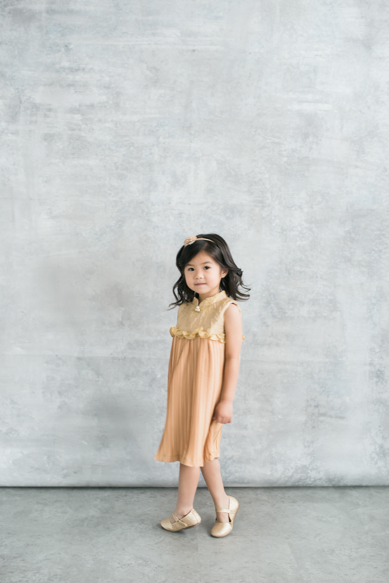 Dolores Dress in Gold (PRE-ORDER 10 WORKING DAYS)