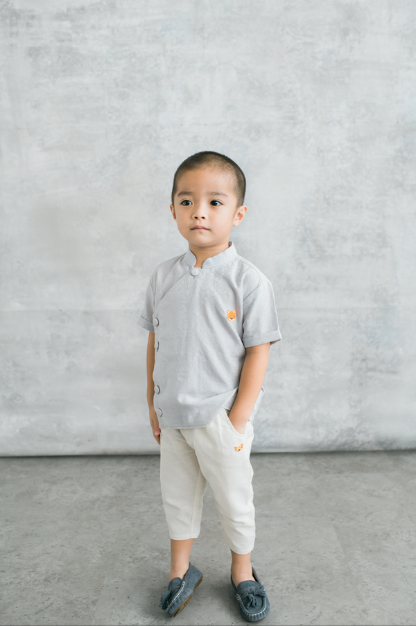 Enzo Shirt in Light Grey (PRE-ORDER 10 WORKING DAYS)