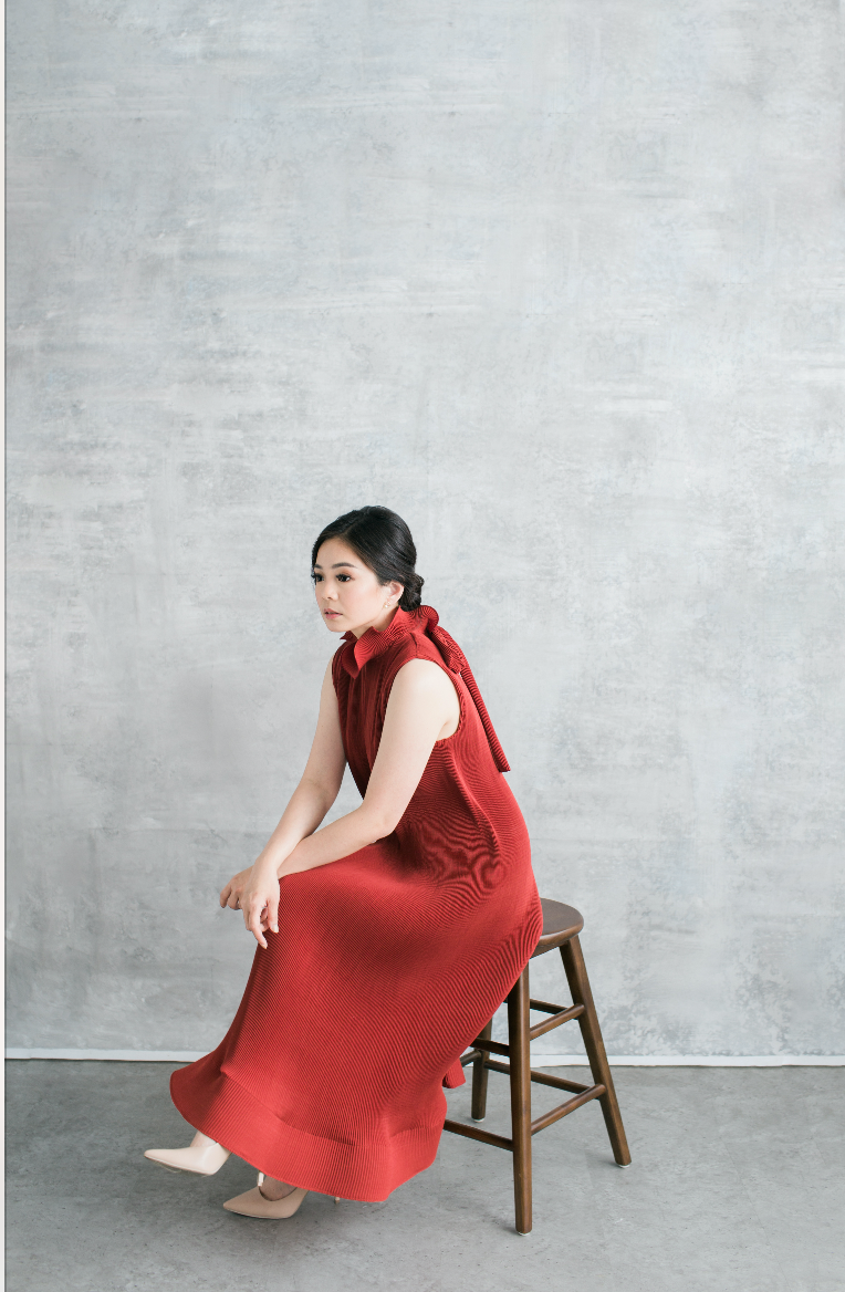 Moudy Dress in Red (Will be delivered on Monday, 20 January 2019)