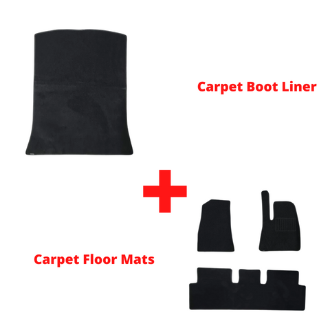 Premium Carpet Floor Mat Bundle - Tesla Model 3