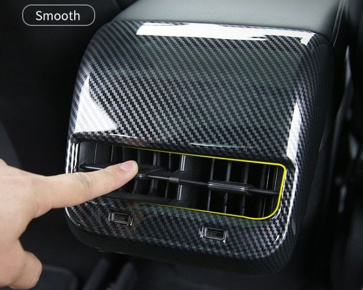 Carbon Fiber Rear Air Conditioning Vent Trim