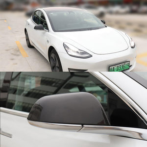 Carbon Fiber Side Mirror Covers for Tesla Model 3