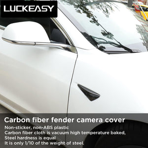 Carbon Fiber Side Camera Trim Kit-Tesla Model Accessories Australia
