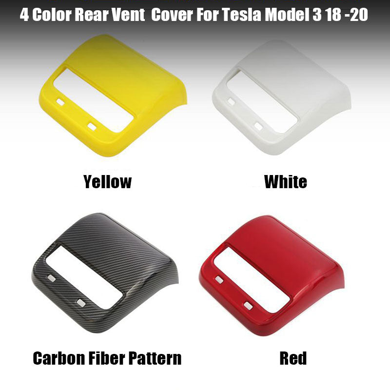 Rear Air Vent Cover for Tesla Model 3