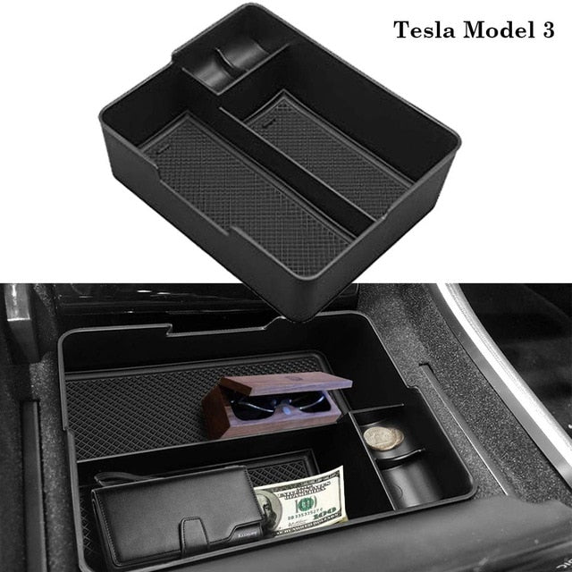 Centre Console Storage Tray for Tesla Model 3-Tesla Model Accessories Australia