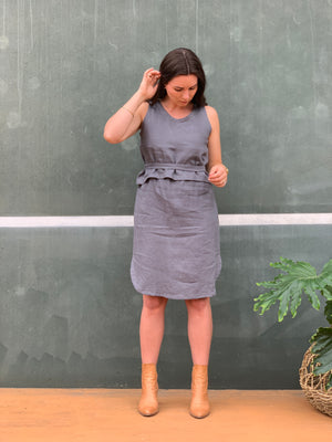 The Emma Dress - Steel Blue