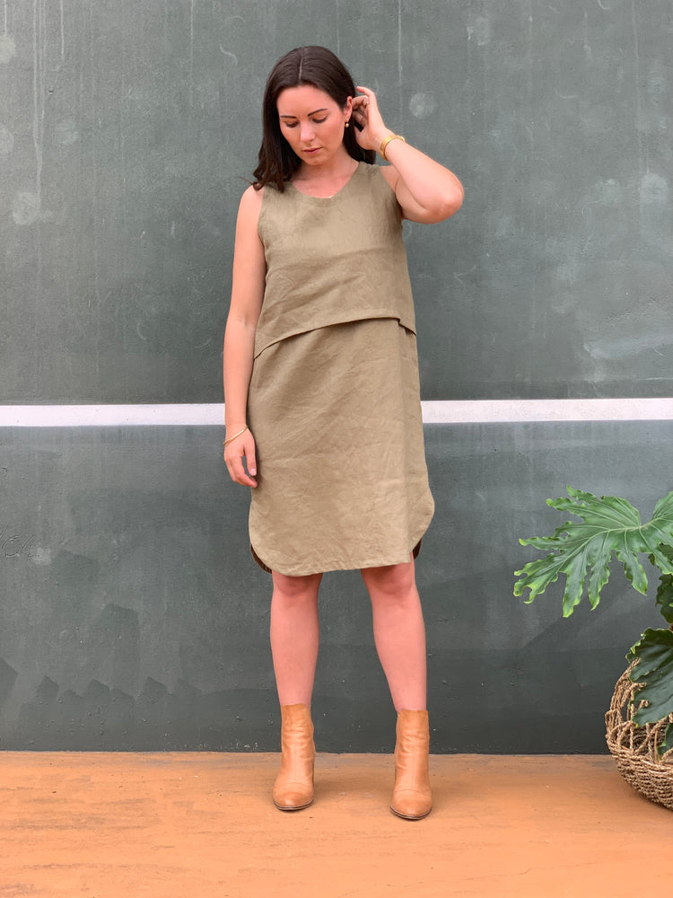 The Emma Dress - Olive