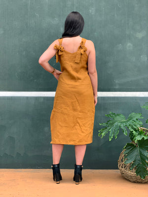 The Paige Dress - Mustard