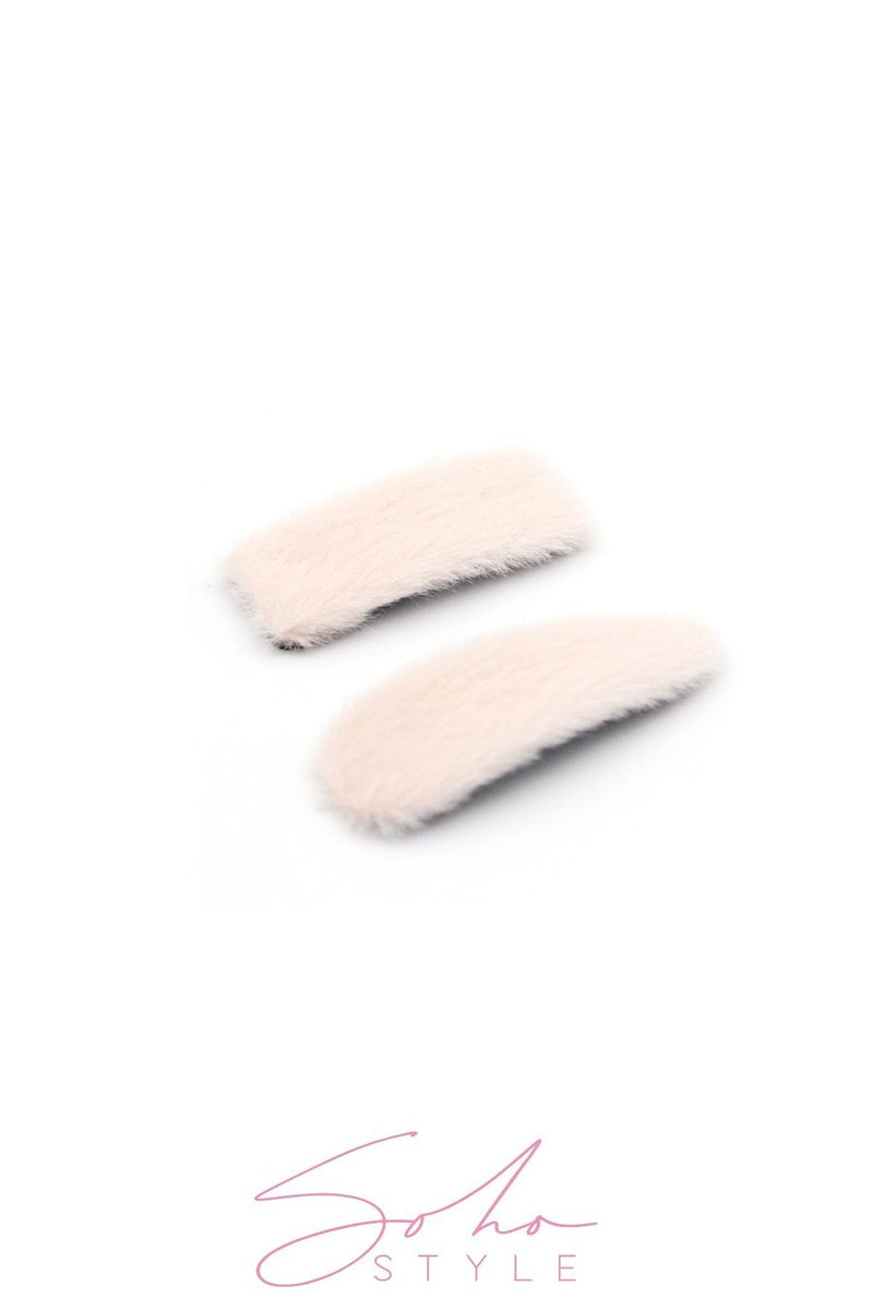 OVERSIZED FUZZY SNAP Barrette SETS