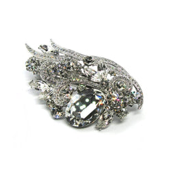 Elegant Large Crystal Barrette