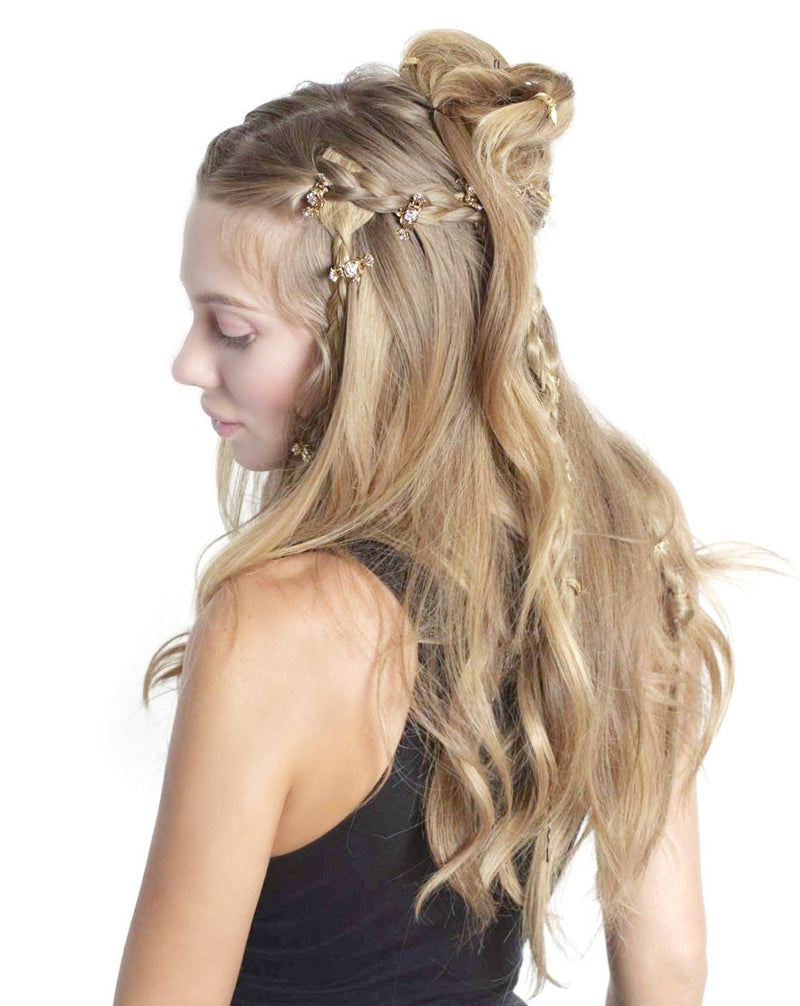 Mini Crystal Flower Hair Jaw