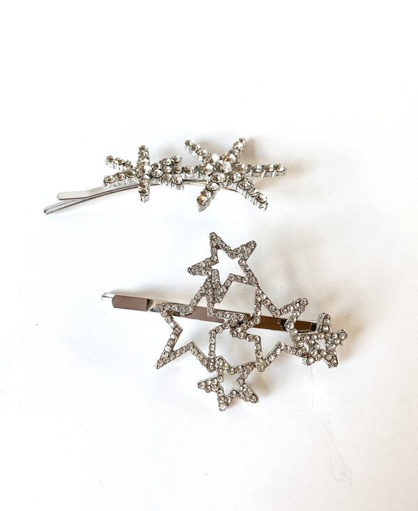 Crystal Constellations Bobby Pin & Twin Stars Crystal Bobby Pin Duo