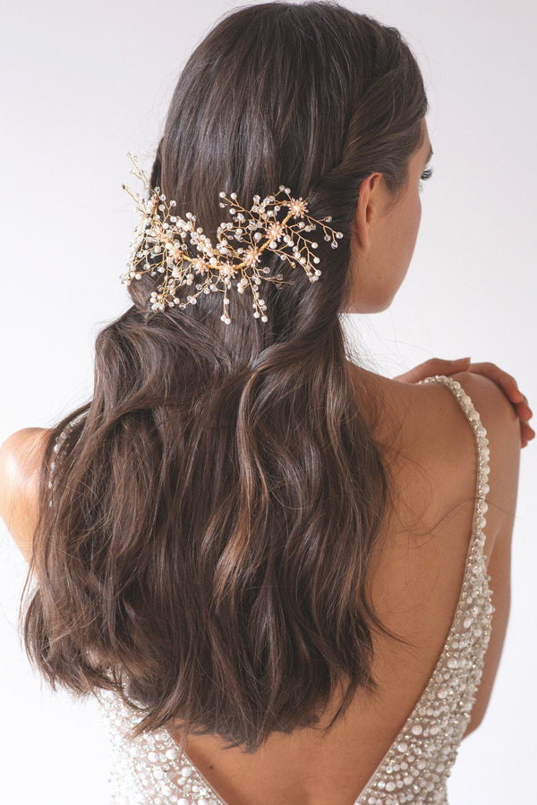 Aurora Crystal Vine Hair Crown