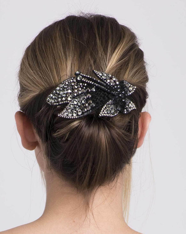Crystal Coated Butterfly Barrette