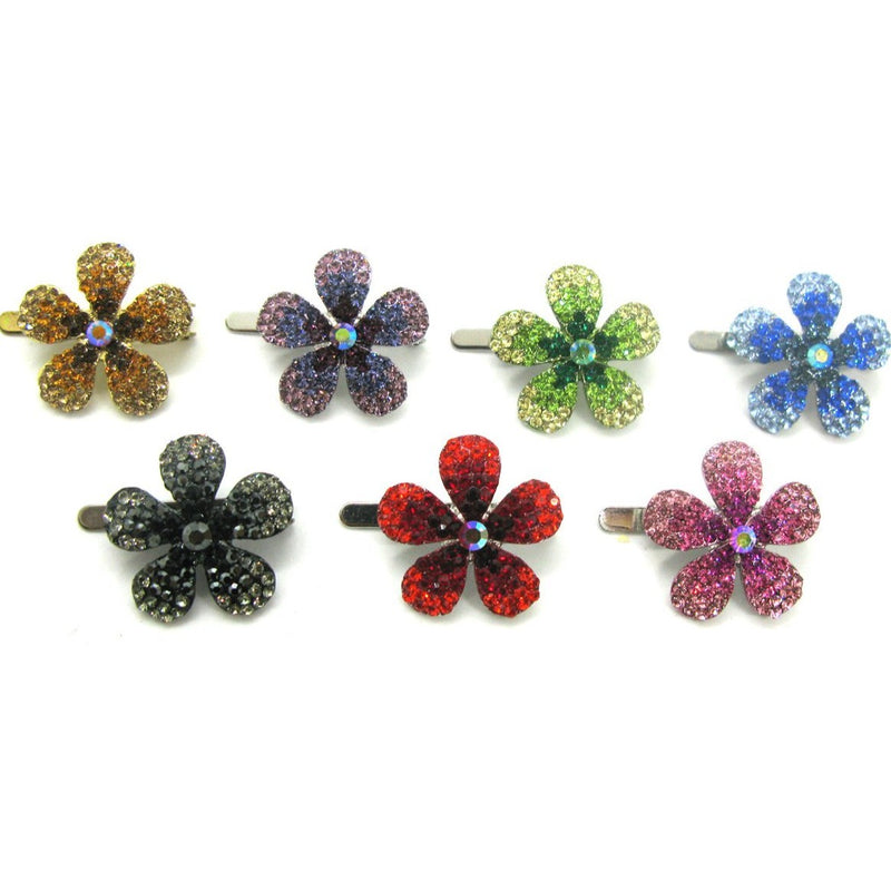 Crystal Daisy Magnetic Barrette