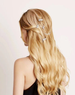 Crystal Crescent Barrette