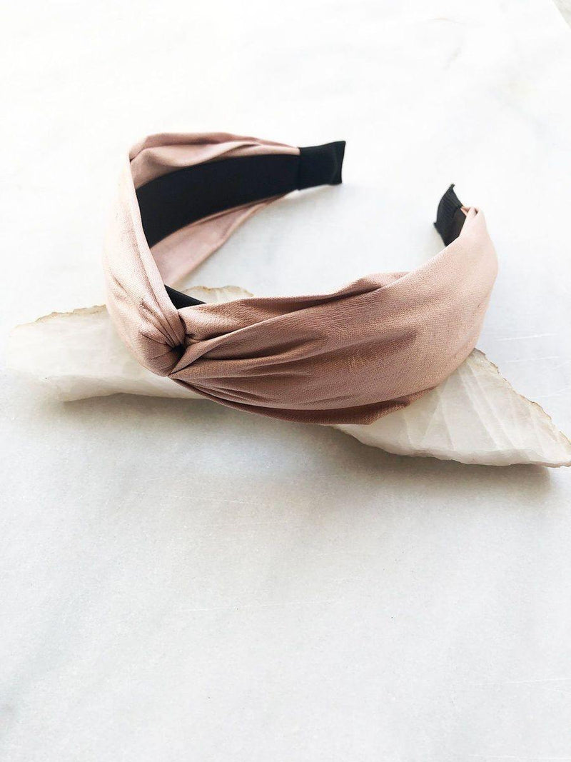 Wrap-style Faux Leather Headband