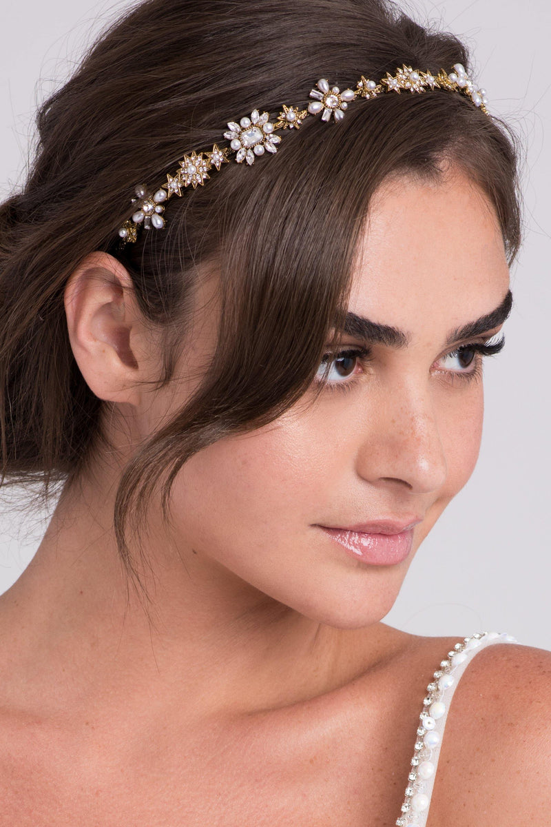 Art Deco Pearls and Crystals Headband