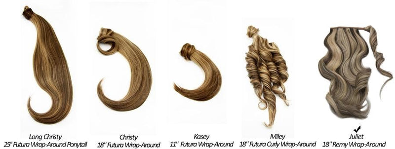 Juliet 18'' Remy Wrap-Around Ponytail Extension