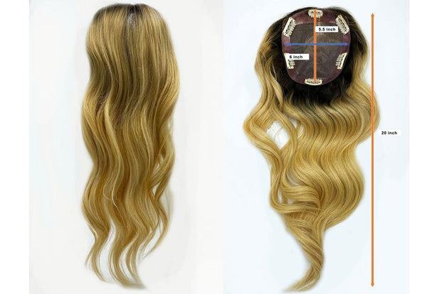 "ROOT TWO TONE GODIVA - 20"" LUXURY LONG VOLUME TOPPER REMY HUMAN HAIR EXTENSION"