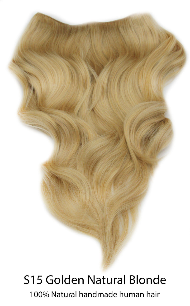 "Aura - Invisible Wired (Halo) Remy Hair Extension Available in 14"" & 20"""