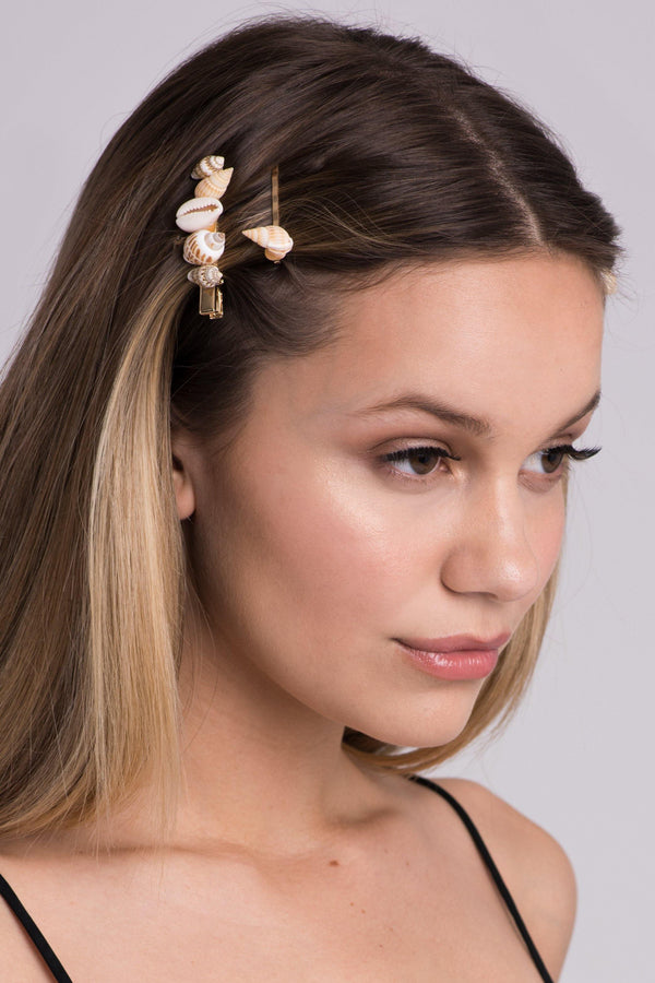 Seashell Bobby Pin Duo