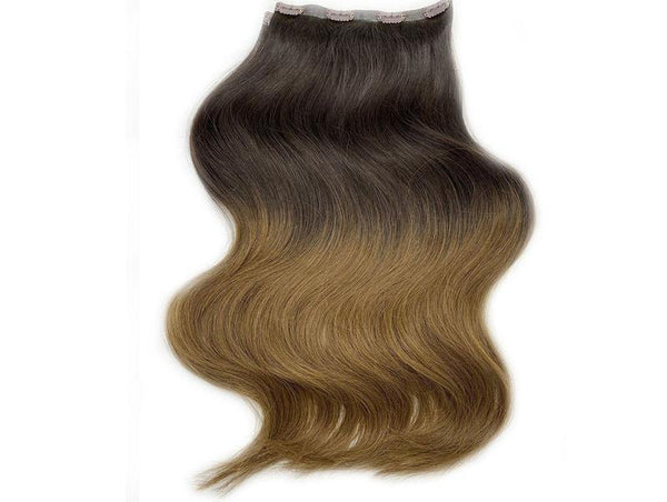 "ROOT TWO TONE SEVEN SISTERS 15"" & 22"" CLIP-IN HUMAN HAIR EXTENSIONS SET"