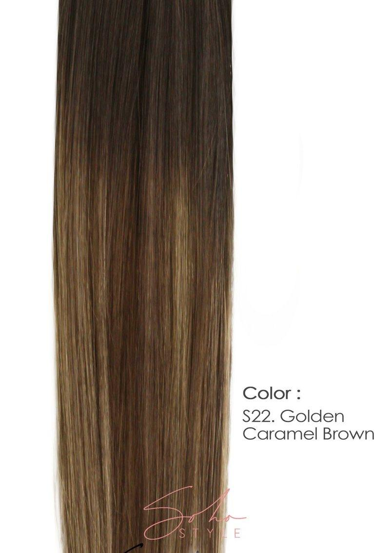 "ROOT TWO TONE ALI 12"" CLIP-IN REMY HUMAN HAIR VOLUME EXTENSION SET"
