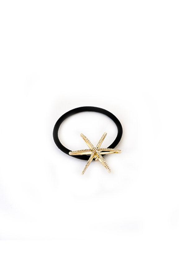 Evening Star Crystal Ponytail Holder