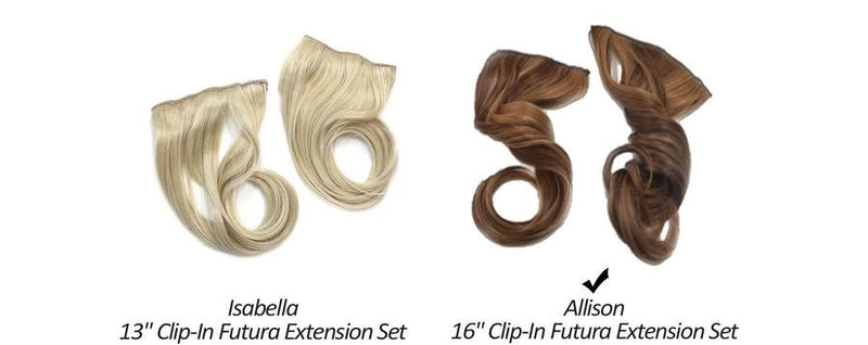 "Isabella 13"" Clip-In Futura Hair Extension"