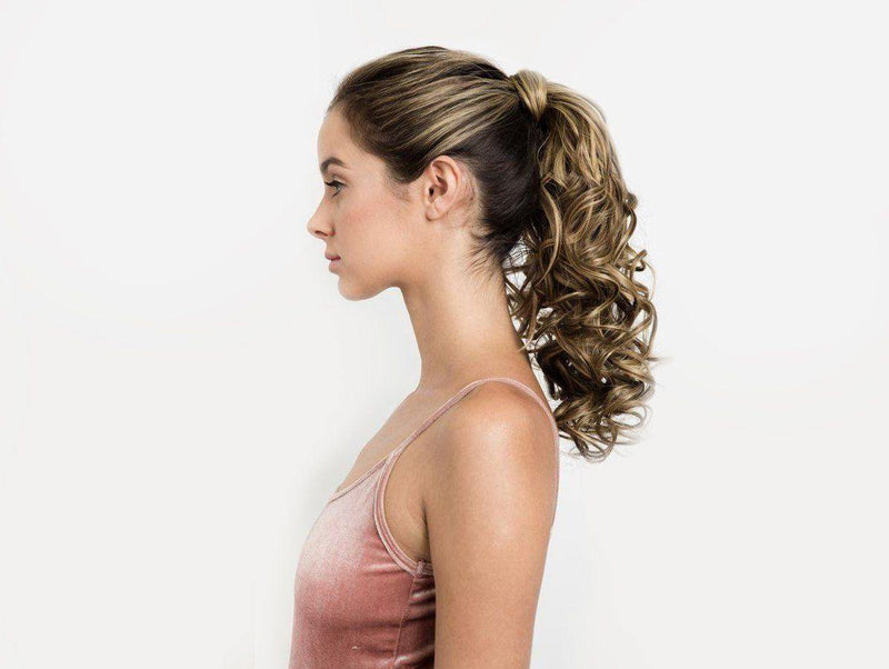 "* Discontinued* Miley - 18"" Curly Wrap-Around Ponytail Extension"