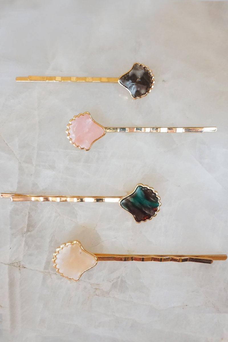 Mosaic Seashell Bobby Pin Set