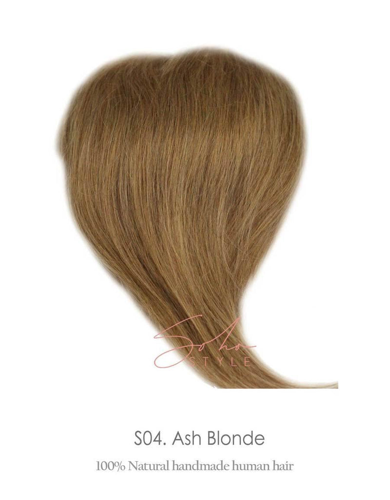 "SPECIAL VALUE SET - ANGELA 12"" HUMAN HAIR VOLUME TOPPER EXTENSION + HUMAN ALI SET"