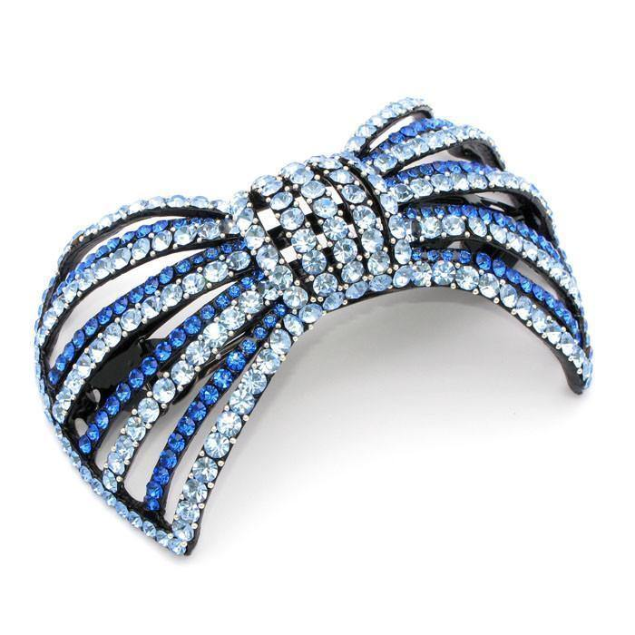 Soho Style Barrette blue Large Bow Barrette
