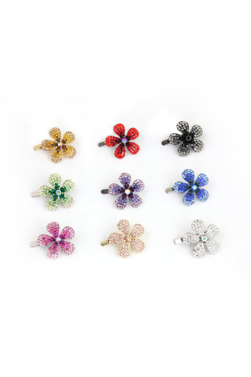 Crystal Daisy Magnetic Barrette -  Barrette, Soho Style