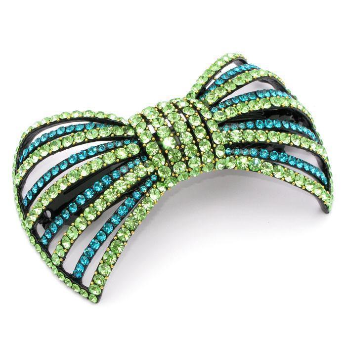 Soho Style Barrette Green Large Bow Barrette