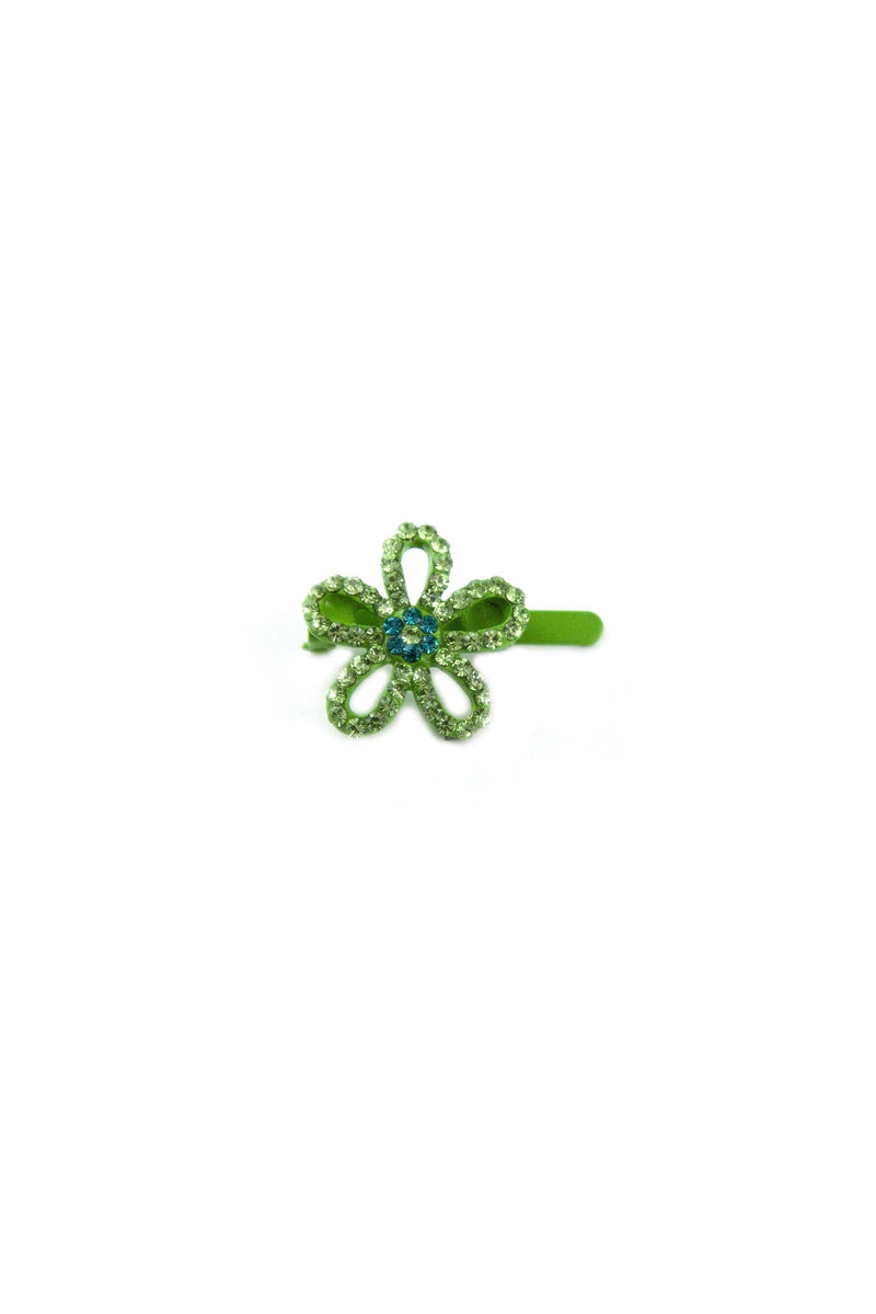 Soho Style Barrette Green Mini Flower Barrette