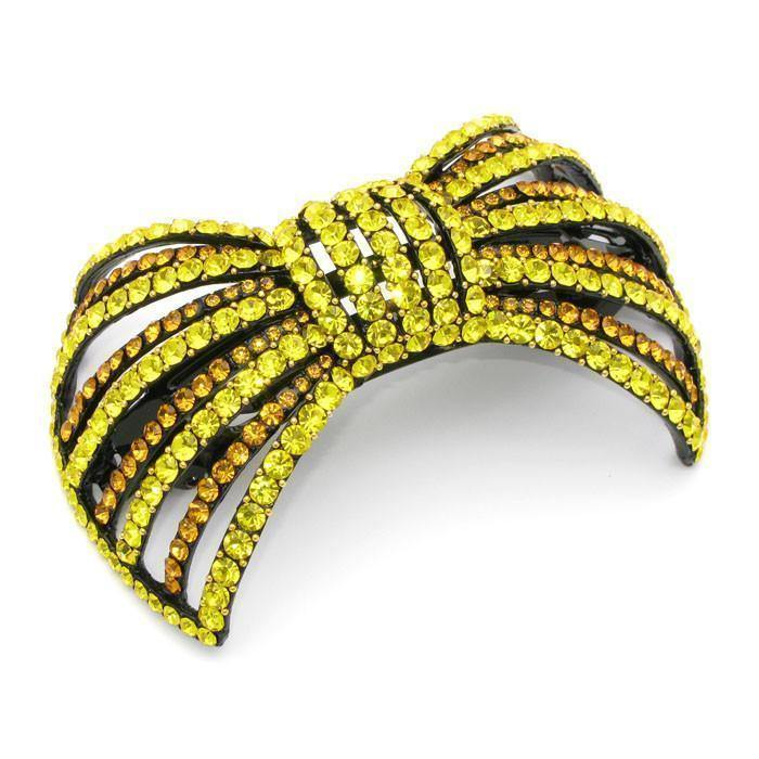 Soho Style Barrette Yellow Large Bow Barrette