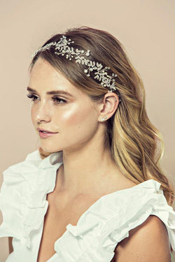 Soho Style Crown silver / Single Victoria Crystal Baby Breath Flower Hair Crown
