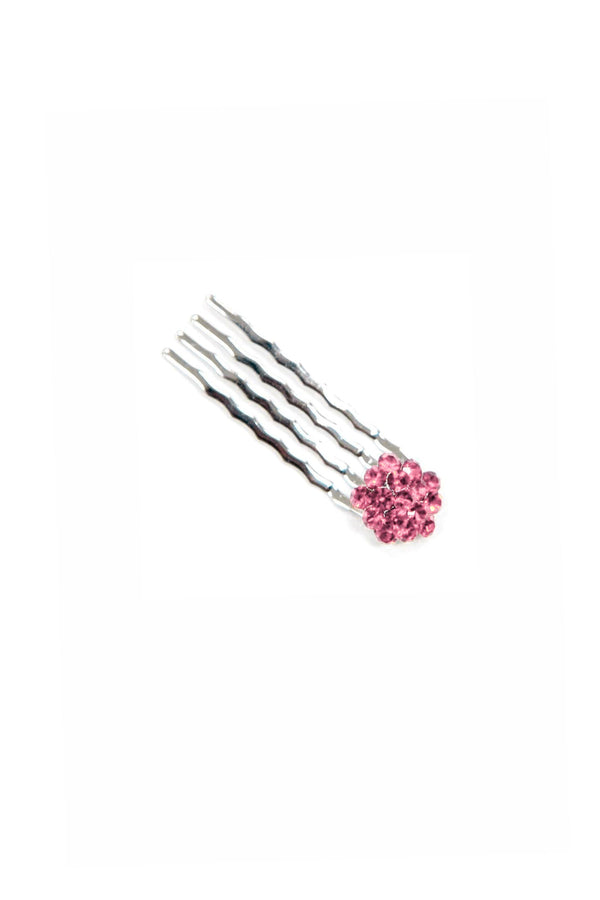 Soho Style Hair Comb PINK Crystal Cluster Mini Hair Comb