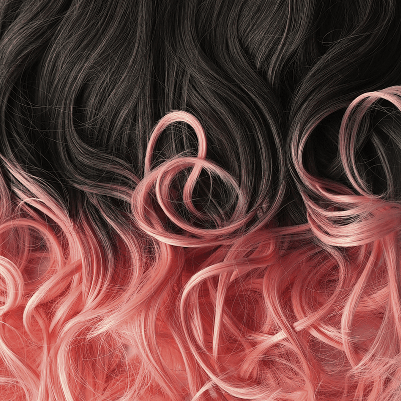 Soho Style Hair Extension 15'' & 19'' / baby pink ombre Pink/Red Tone Ombre Halo Extensions