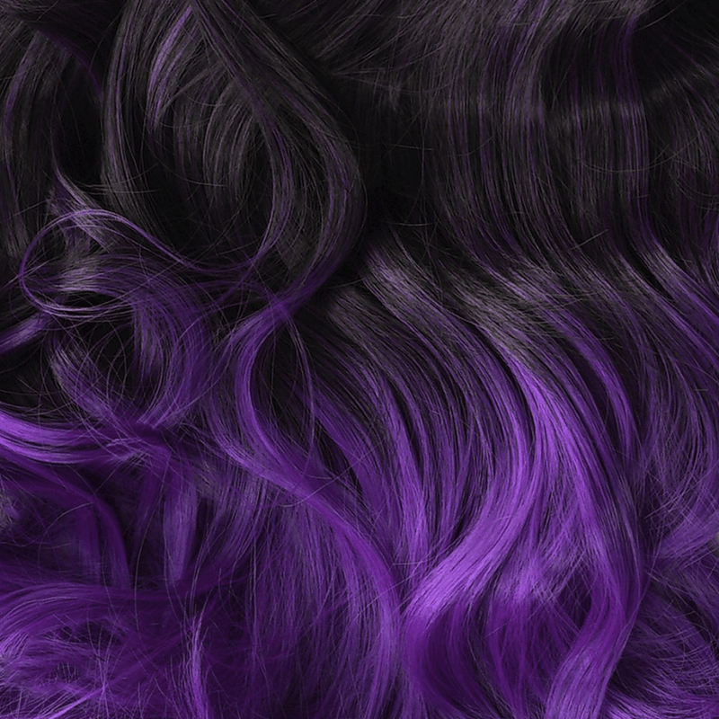 Soho Style Hair Extension 15'' & 19'' / bright purple ombre Purple/Grey Tone Ombre Halo Extensions
