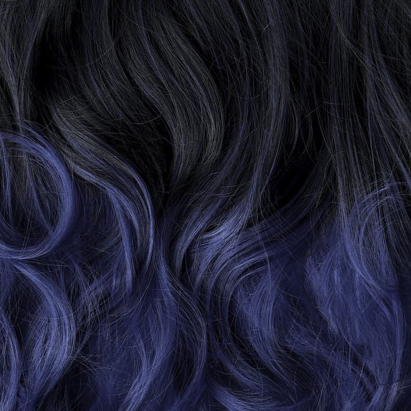 Soho Style Hair Extension 15'' & 19'' / sapphire ombre Blue Tone Ombre Halo Extensions