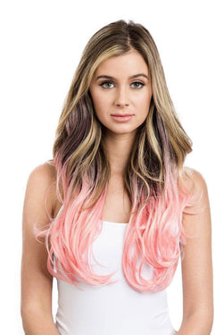 Soho Style Hair Extension 15'' / baby pink ombre Pink/Red Tone Ombre Halo Extensions