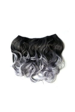 Grey Tone Ombre Halo Extensions -  Hair Extension, Soho Style