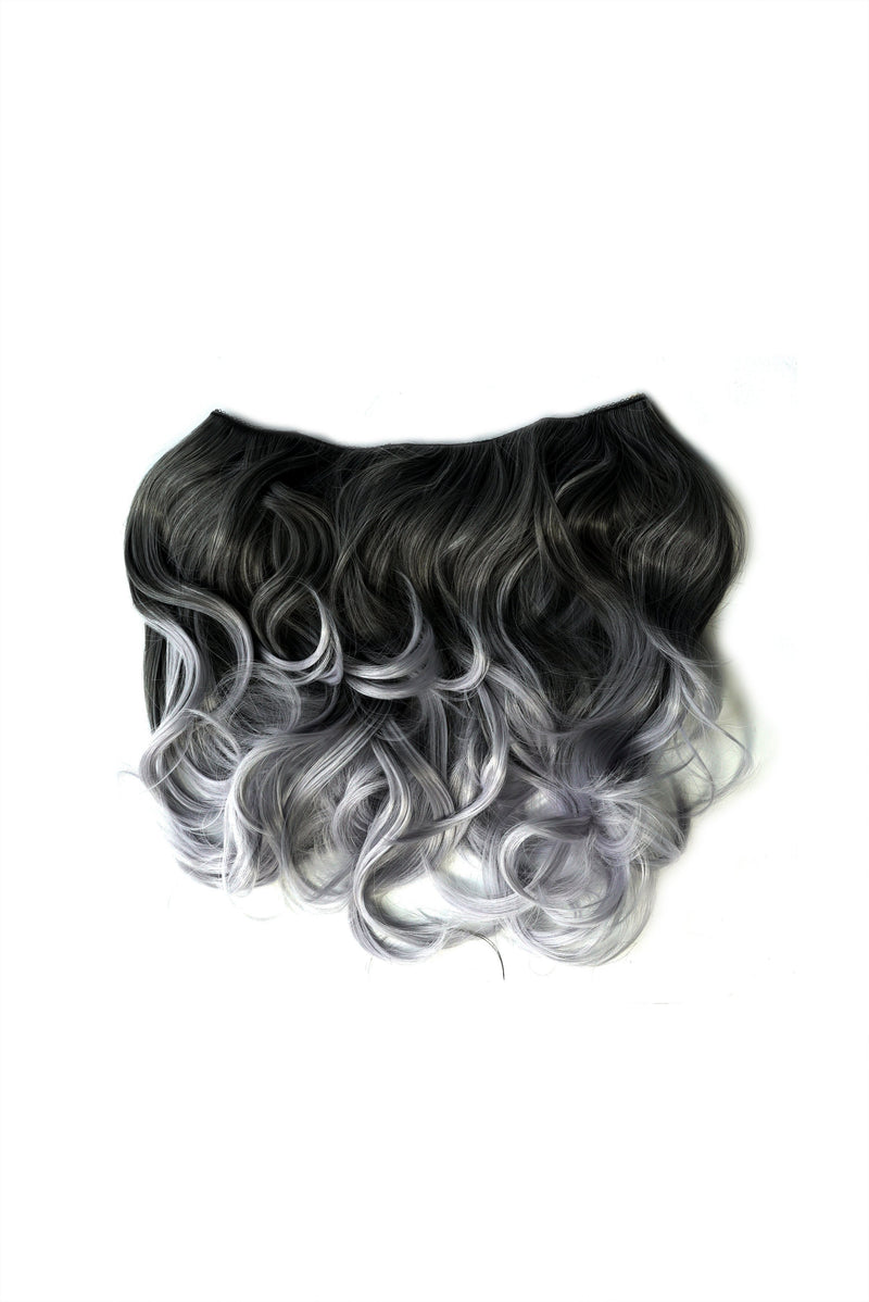 Soho Style Hair Extension 15'' / grey Purple/Grey Tone Ombre Halo Extensions