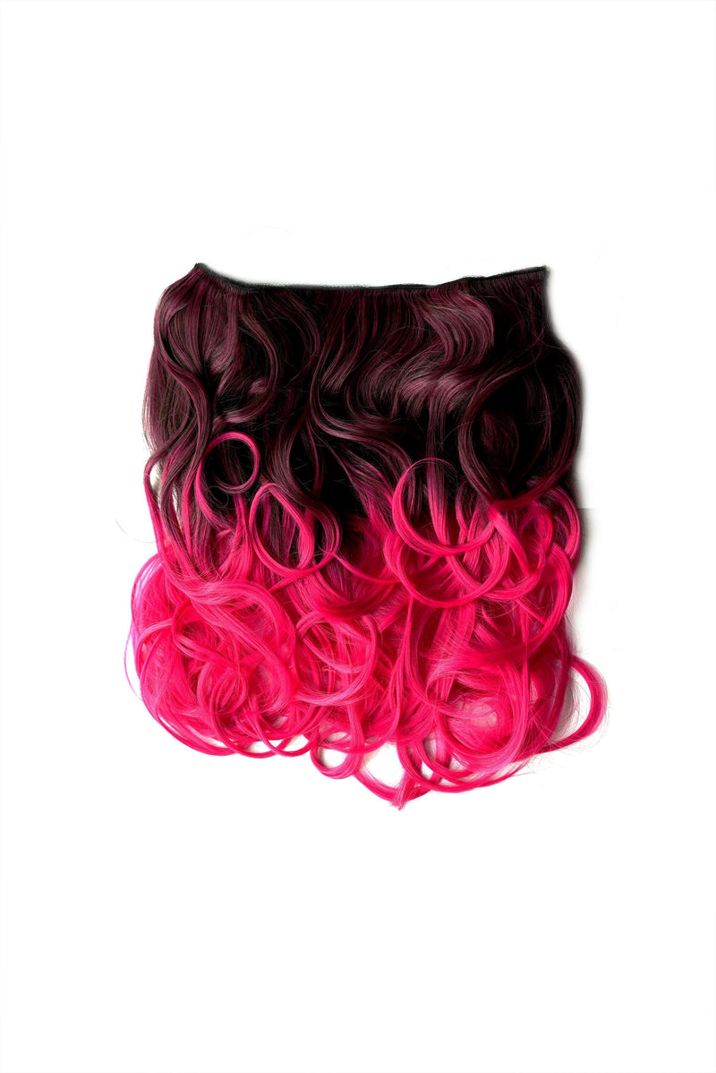 Soho Style Hair Extension 15'' / hot pink Pink/Red Tone Ombre Halo Extensions