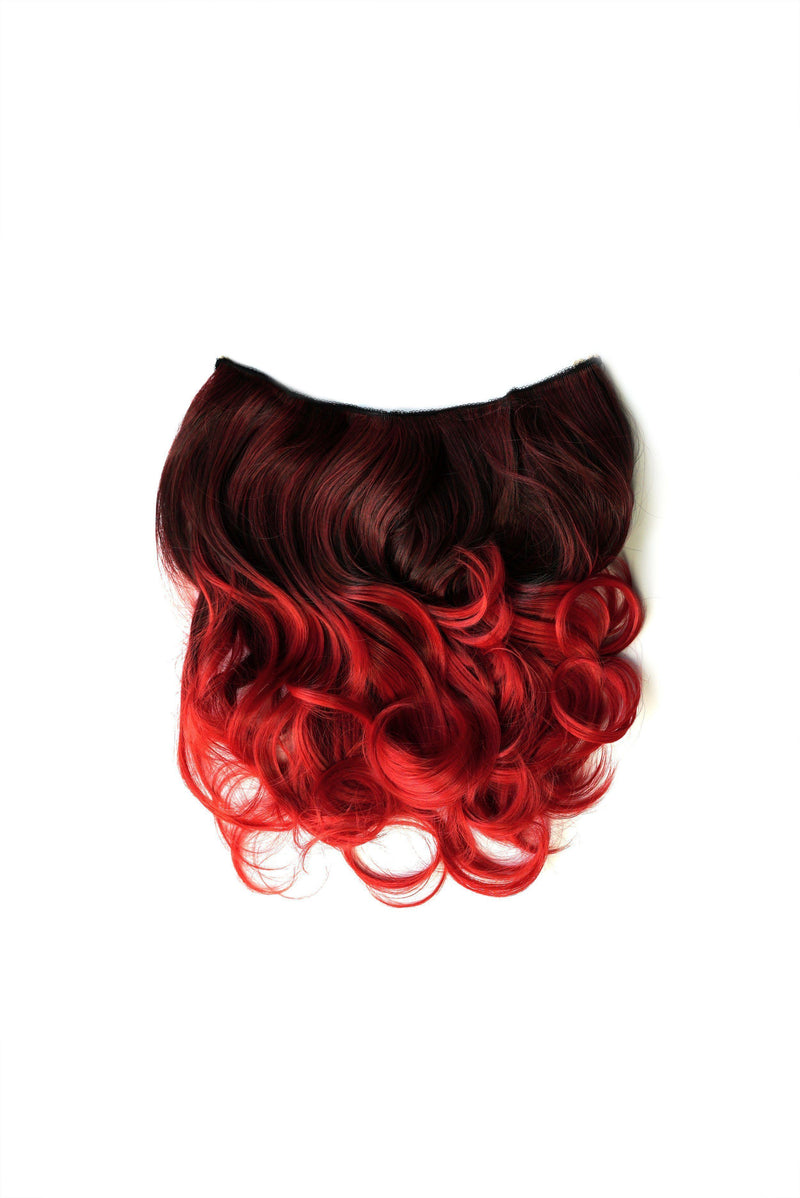 Soho Style Hair Extension 15'' / red Pink/Red Tone Ombre Halo Extensions